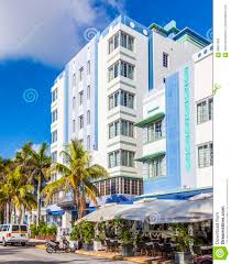 beautiful houses in art deco style in south miami editorial photo