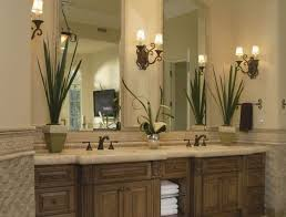 vanity light fixtures oval white sink brown marble table counter