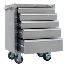 26 u2033 5 drawer stainless steel rolling cabinet u2013 viper tool storage