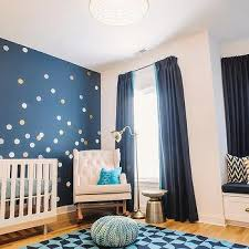 navy nursery curtains design ideas