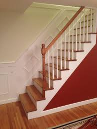 my new staircase stained golden oak and poly the treads and