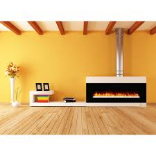 elite flame nile 72 inch crystal electric wall mounted fireplace