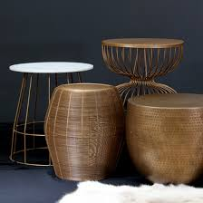 Drum Side Table Antique Brass Coffee Table 7 Bass Side Table Metal Drum Stool