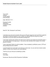 child caregiver cover letter format