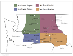Map Of Spokane Regional Map The Episcopal Diocese Of Spokane