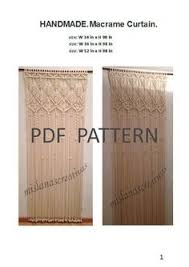 pdf instructions macrame curtain macrame curtain macrame and craft