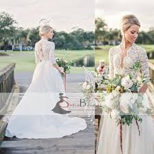 lace top wedding dress lace top wedding dresses half sleeves tulle bridal gown