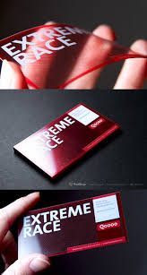 Cool Shaped Business Cards Clear Uv Printed Business Card With A Transparent Face This Card