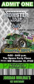 monster truck show ticket prices invitation monster jam pit pass by berrykreative on etsy 10 00