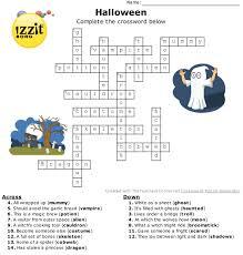 free printable halloween crossword puzzle for kids halloween grid