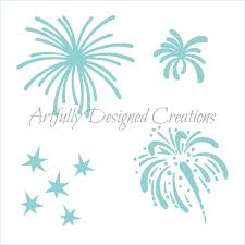 fireworks stencil artfully designed creations