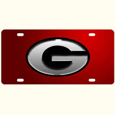 uga alumni car tag tag silver g blk out dawgwear uga merchandise and bulldog