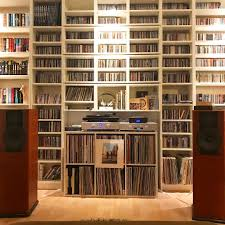 Vinyl Record Bookcase Vinyl Wall Of Sound Records Living Room Player Turntable Living