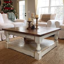coffee table fabulous distressed wood coffee table square glass