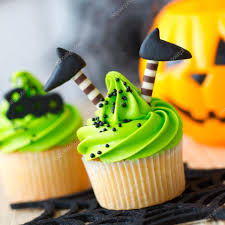 heks halloween cupcakes u2014 stockfoto ruthblack 88558638