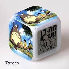 Japanese Desk Accessories aliexpress com buy kids alarm clock totoro japanese anime catoon