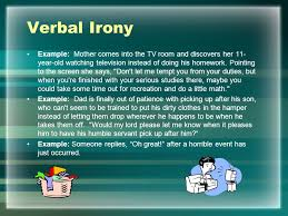 literary terms and figurative language irony point of view