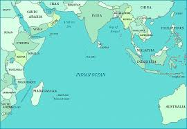 map world oceans map of indian