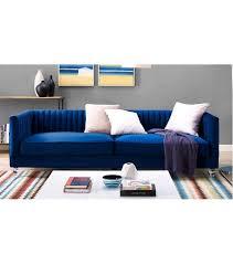 velvet pleated low back sofa acrylic legs