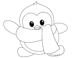 cute winter coloring pages coloring page penguin penguins coloring pages little cute winter