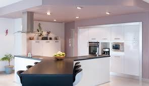 modele de cuisine avec ilot cuisine épurée avec îlot en y modèle harmonie