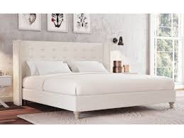 Studded Bed Frame King Size Fabric Studded Wing Bed Ensemble Base Mayfair