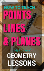 points lines and planes geometry lesson on how to teach points