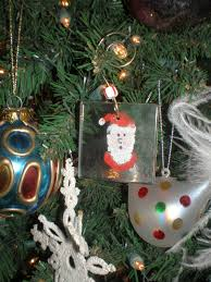 fingerprint santa keepsake ornament crafty crafts