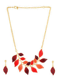 red necklace set images Buy gold n red necklace set alloy necklace online shopping jpg
