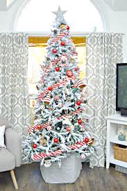 and white themed flocked tree 4 real