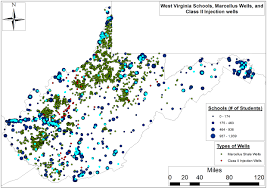 West Virginia Map With Counties by How Close Are Schools And Hospitals To Drilling Activity In West