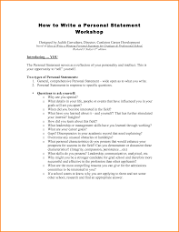 Resume Personal Statement Examples Personal Statement On Resume Template