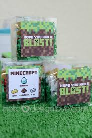 minecraft party favors minecraft birthday party candy party favors hellodesignlove