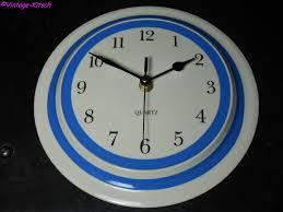 prototype cornish blue wall clock cloverleaf c 1996 time