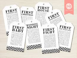 for bridal shower printed item bridal shower milestone wine tags with poems for