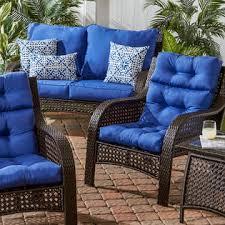 greendale home fashions outdoor high back chair cushion marine