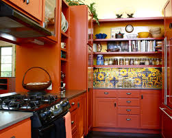Orange Kitchen Cabinets Houzz - Orange kitchen cabinets