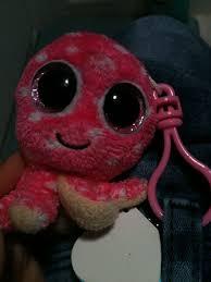 octopus ollie beanie boo keychain funny