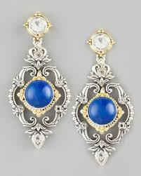 Aegean Chandelier Earrings Turquoise Blue Ohhhhh London Blue Topaz Chandelier Post Back Earrings By