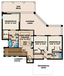 Sopranos House Floor Plan by 3 Car Garage Courtyard House Plans