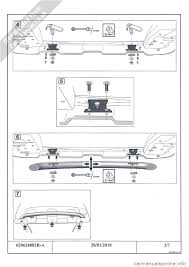 dacia duster 2010 1 g front styling bar fitting guide workshop manual