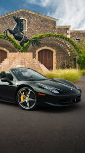 ferrari 458 black iphone 7 plus vehicles ferrari 458 spider wallpaper id 638122