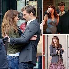 fifty shades grey movie pictures from set fifty shades of grey