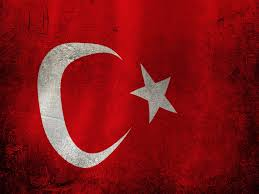 Hollanda Flag Germany Vs Turkey Red Turkey Flag On Broken Damage Brick Wall And