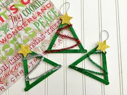 tree popsicle stick craft diy ornament