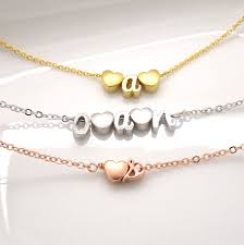build your own heart and initial bracelet personalized mom
