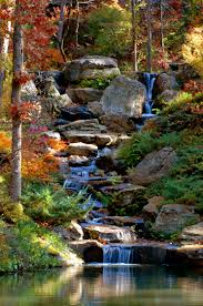 koi pond cascade in fall this is why i want to get married at