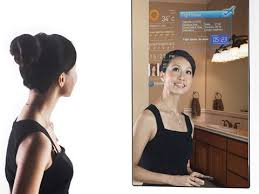 Smart Bathroom Mirror by Bathroom Mirror Display Shows Your Image And Much More Tested