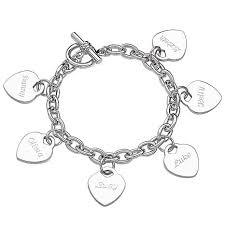 name charm engraved hearts name charm 8 bracelet 6603229 hsn
