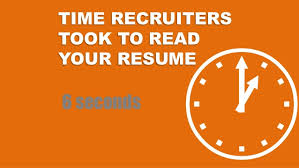 Resume 6 Seconds The Perfect Resume